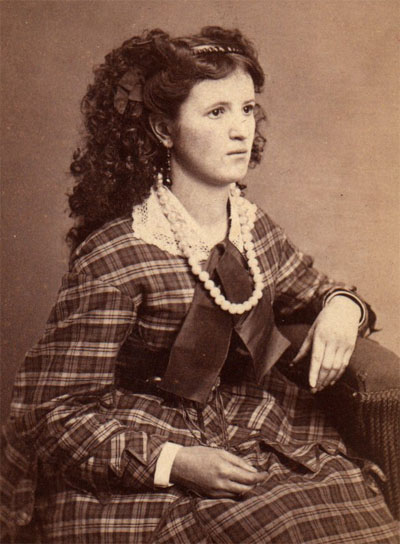 Although the exact date is unknown, Gale Martin of the Marion County Historical Society speculates that this photo of Nettie Aronhalt was taken just a few years prior to John Aronhalt's murder. Photo courtesy of the Marion County Historical Society,     Although the exact date is unknown, Gale Martin of the Marion County Historical Society speculates that this photo of Nettie Aronhalt was taken just a few years prior to John Aronhalt's murder. Photo courtesy of the Marion County Historical Society.
