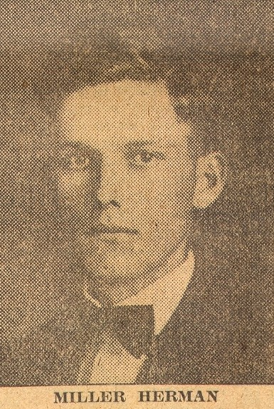 Herman's photo as it appeared in the 1921 Marion Daily Star.