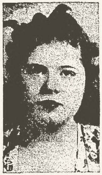 Roxie Green as she appeared in the September 28th, 1938 edition of the Marion Star.