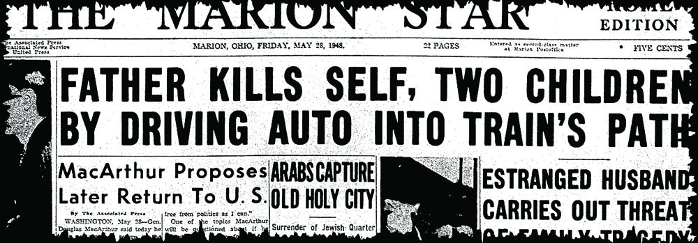 The May 28, 1948, headline from The Marion Star.