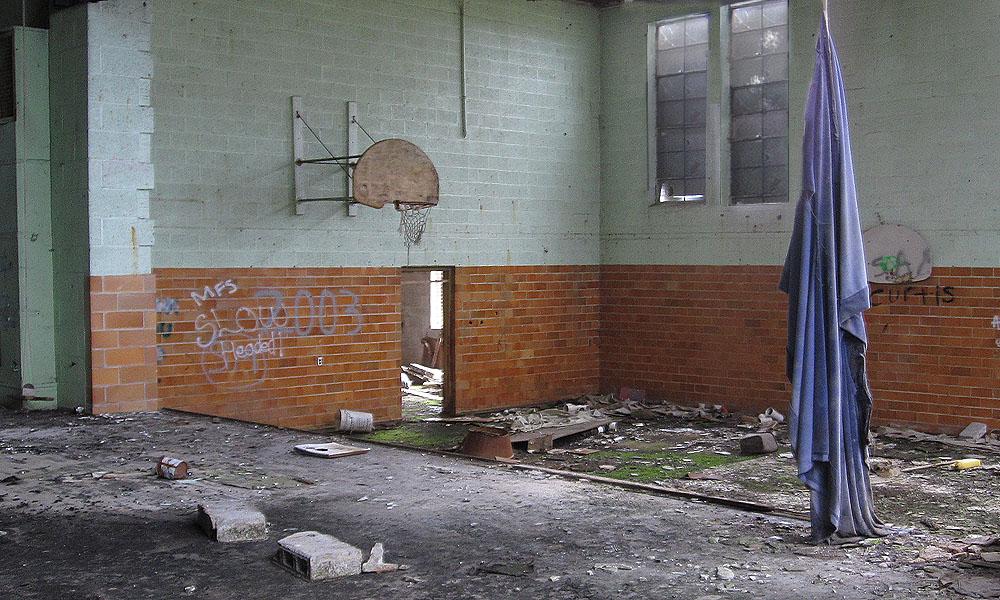 The former gymnasium.
