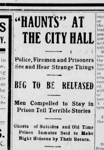 "A headline to one of the ""Shoe String Jack"" articles appearing the the Marion Daily Mirror on March 31st, 1909."