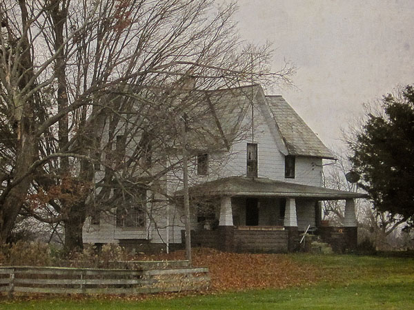 The Myers farmhouse is still standing today and is clearly visible from Route 423. This photo was taken in October of 2015.