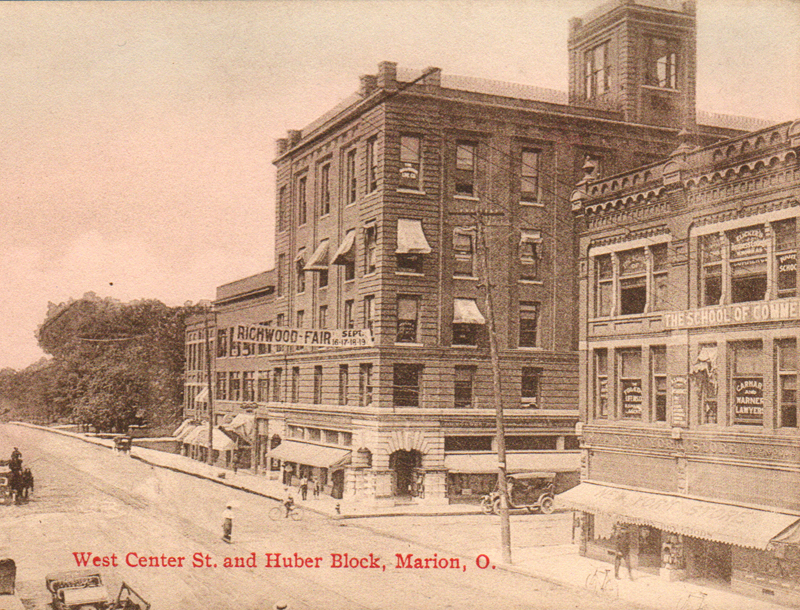 Of course, the Huber Building on the corner of Prospect and Center Street is well-known in Marion. Constructed by Marion industrialist Edward Huber in 1903, the building has been home to a variety of businesses over the years. The property is currently being developed into lofts by Lois Fisher and Associates.