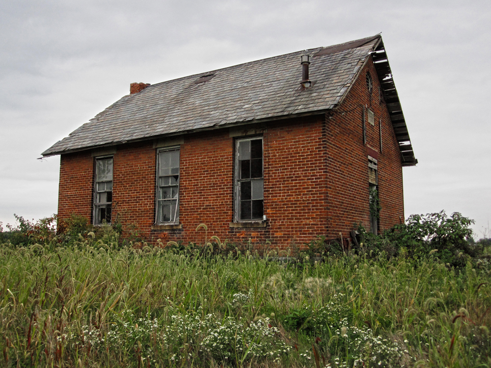 Located on the relatively obscure Showers Road north of town, this former one room schoolhouse is currently being used to shelter farm animals. It dates back to 1896.