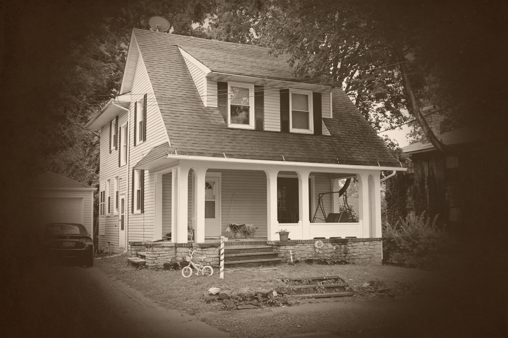 PHOTO CPATION: The house was a four bedroom house with the originally wooden floors built in 1903.
